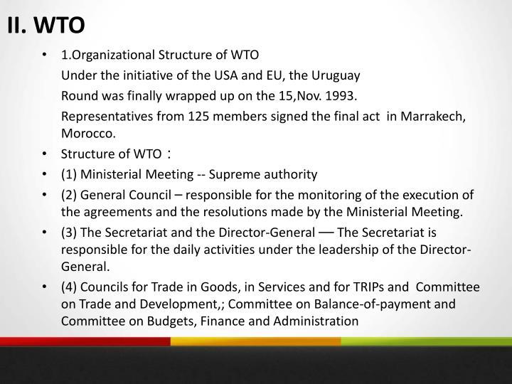 II. WTO