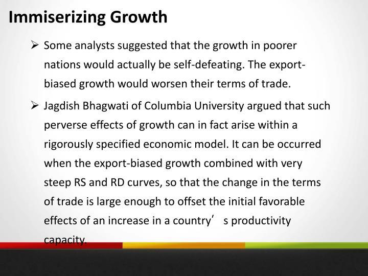 Immiserizing Growth