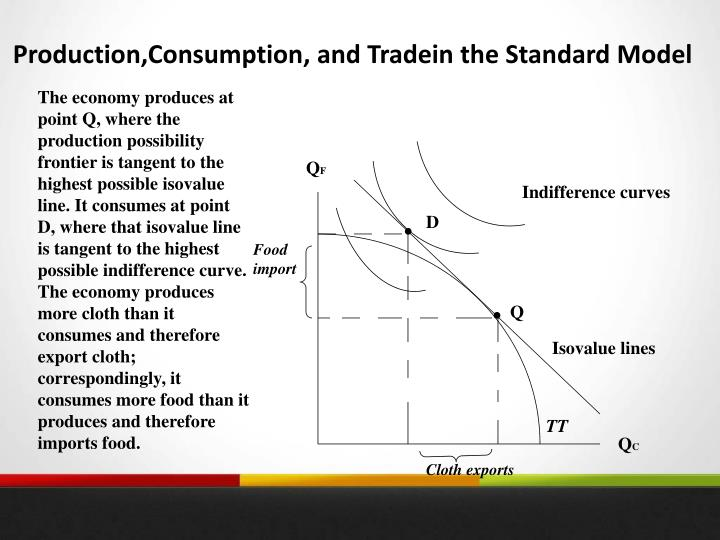 Production,Consumption, and Tradein the Standard Model