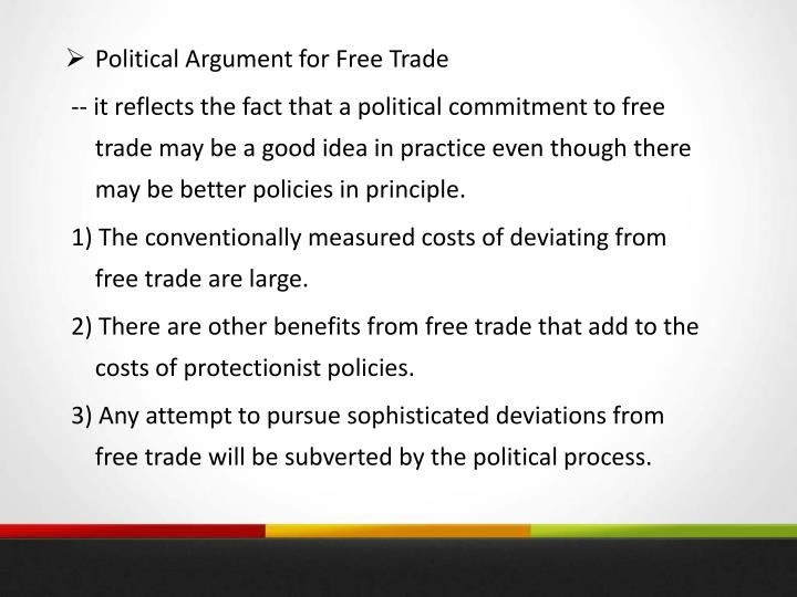 Political Argument for Free Trade