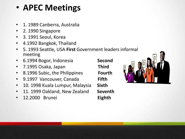 APEC Meetings