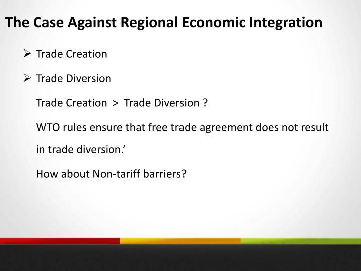 The Case Against Regional Economic Integration
