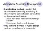methods for assessing development1