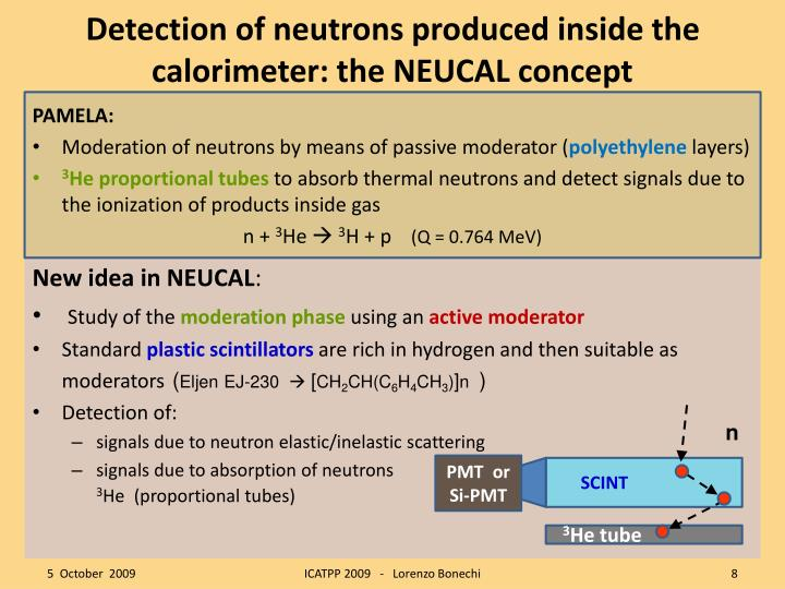 Detection of neutrons produced inside the calorimeter: the NEUCAL concept