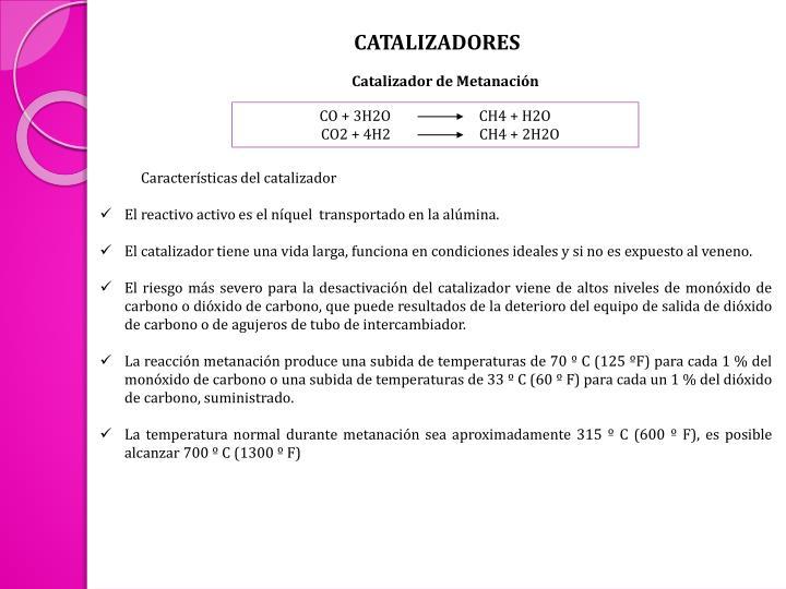 CATALIZADORES