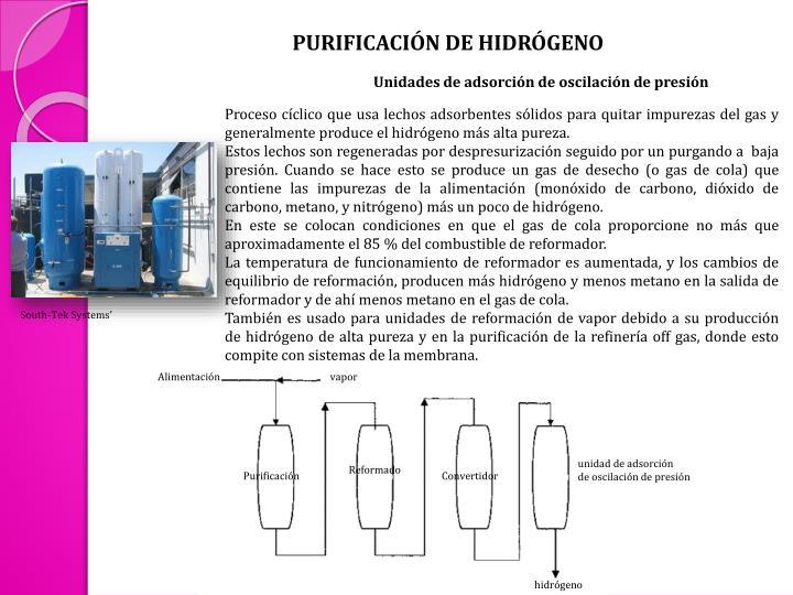 PURIFICACIÓN DE HIDRÓGENO