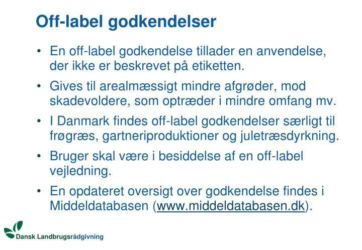Off-label godkendelser