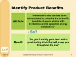 identify product benefits1