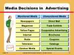 media decisions in advertising