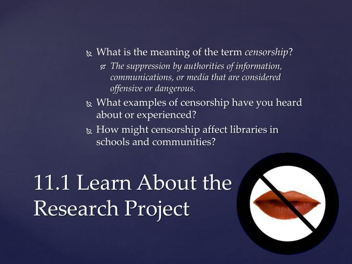11 1 learn about the research project