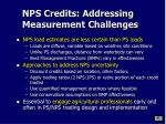 nps credits addressing measurement challenges