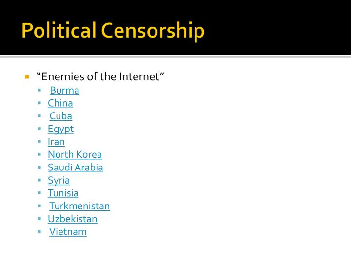Political Censorship