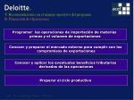 v recomendaciones en el manejo operativo del programa b planeaci n de operaciones
