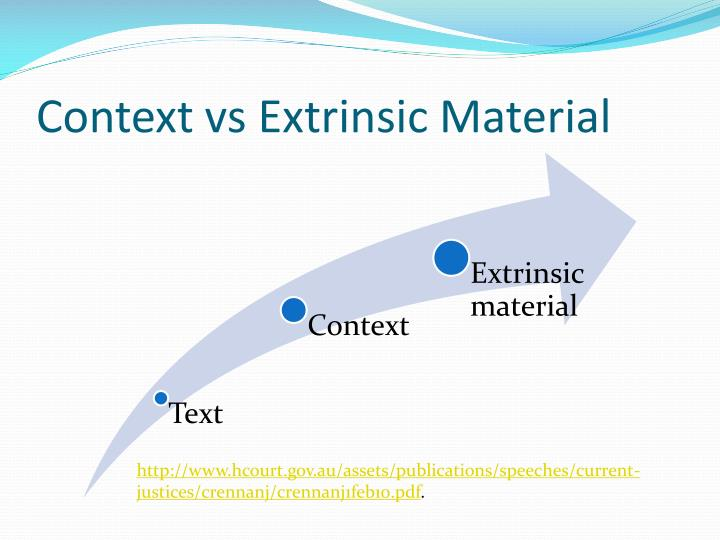 Context vs Extrinsic Material