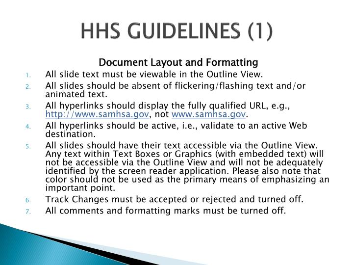 HHS GUIDELINES (1)