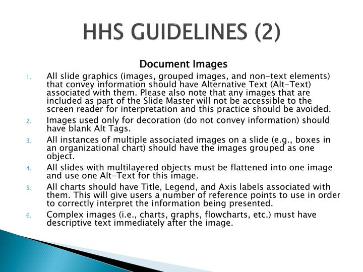 HHS GUIDELINES