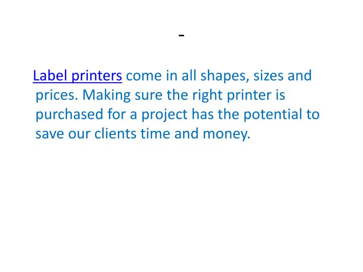 Right label printers and consumables www rlsltd co uk