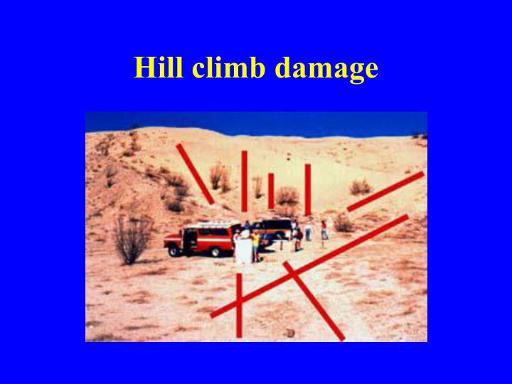 Hill climb damage