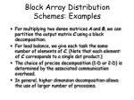 block array distribution schemes examples