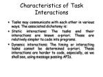 characteristics of task interactions