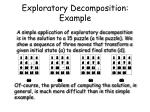 exploratory decomposition example