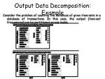 output data decomposition example2