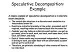 speculative decomposition example