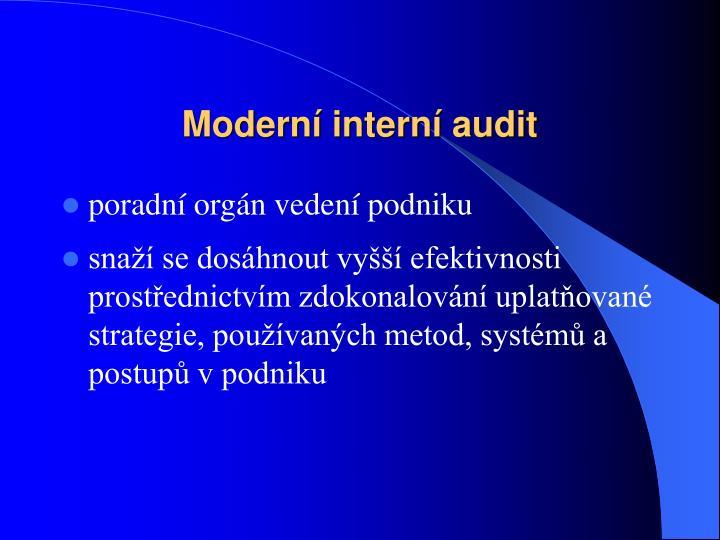 Moderní interní audit