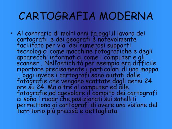 CARTOGRAFIA MODERNA