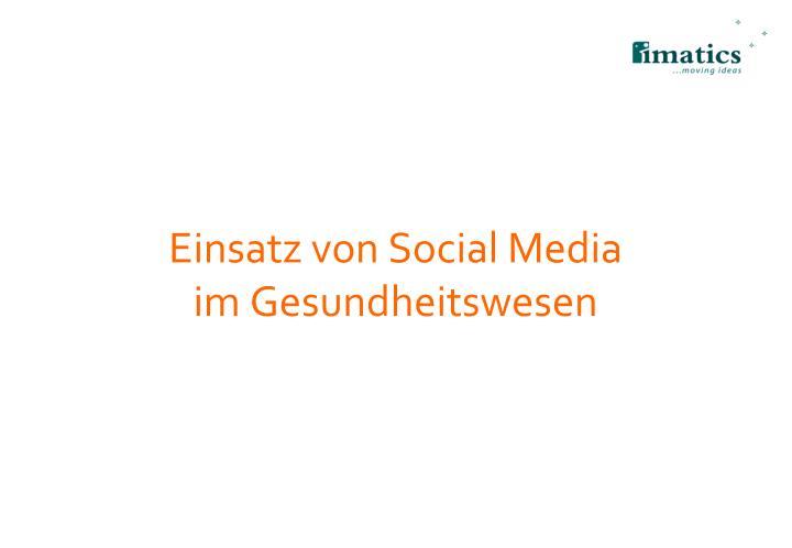 Einsatz von Social Media