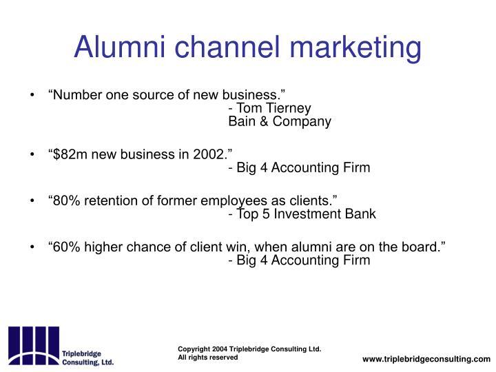 Alumni channel marketing