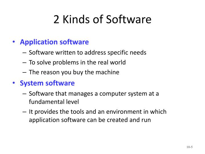 2 Kinds of Software