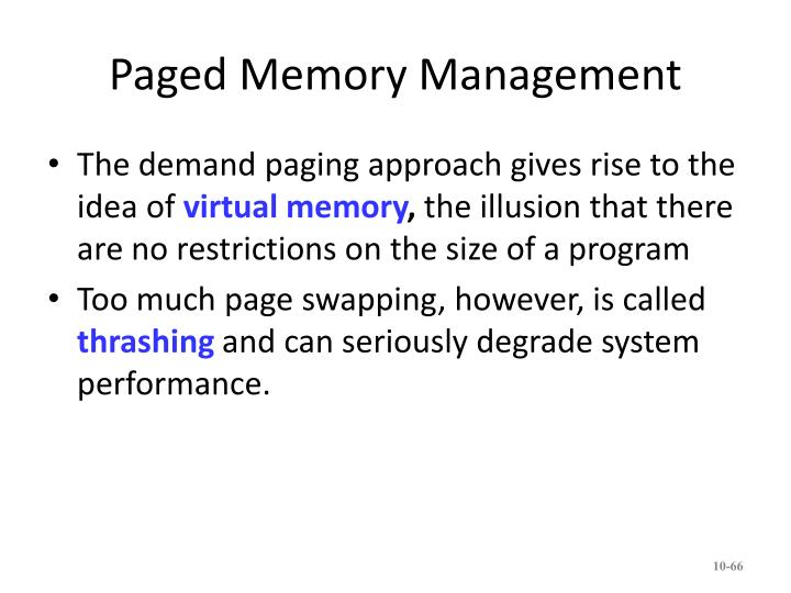 Paged Memory Management