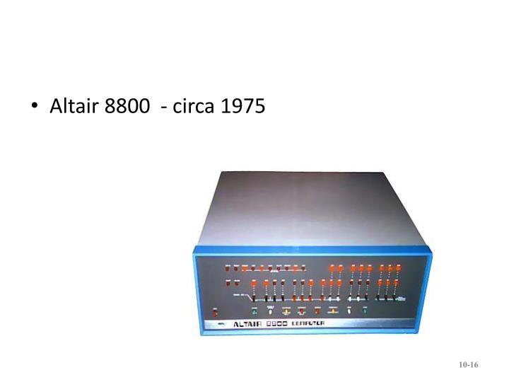 Altair 8800  - circa 1975