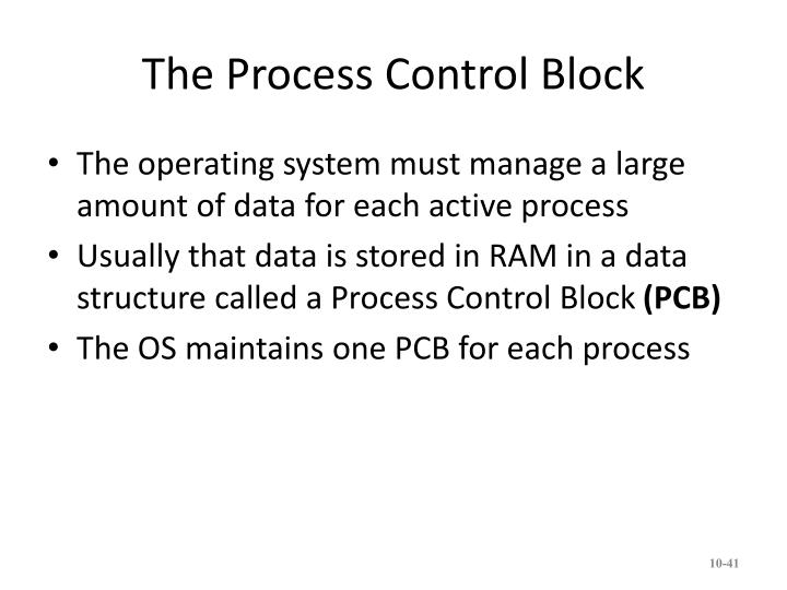 The Process Control Block