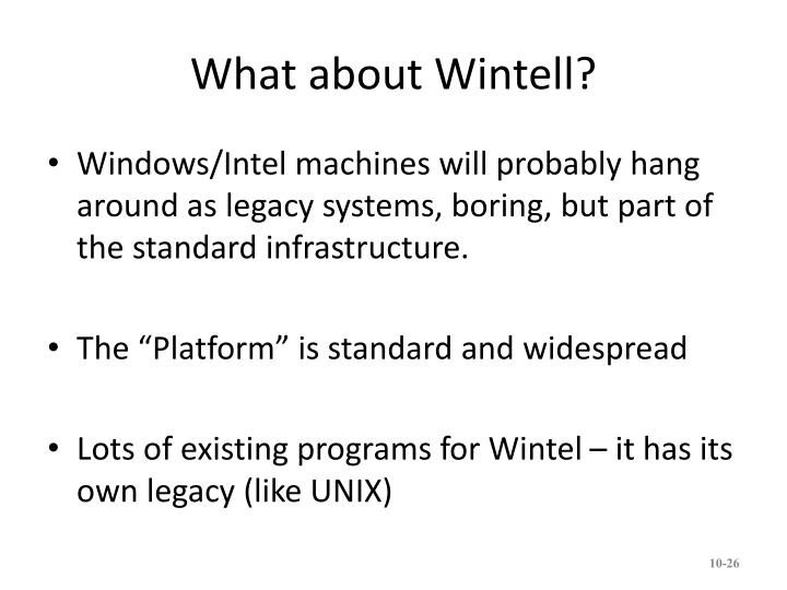 What about Wintell?