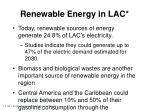 renewable energy in lac