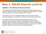 step 3 nslds reports cont d4