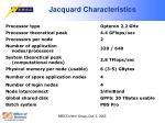 jacquard characteristics