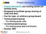project directories
