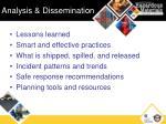 analysis dissemination