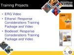 training projects
