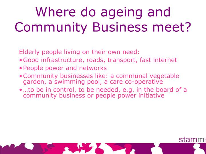 Where do ageing and Community Business meet?