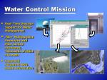 water control mission