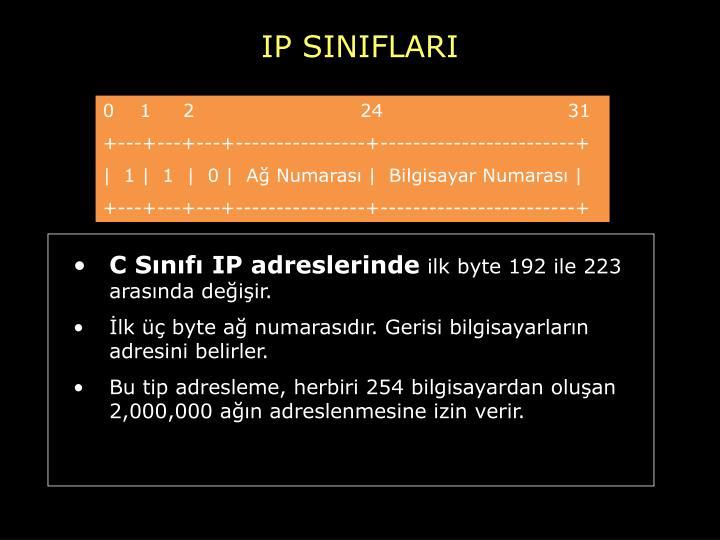 IP SINIFLARI