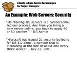 an example web servers security