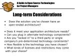 long term considerations1