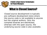 what is closed source