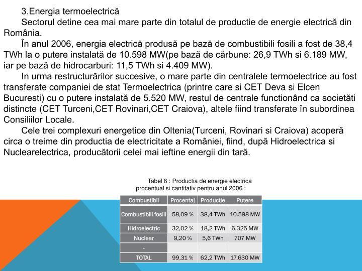 3.Energia termoelectrică