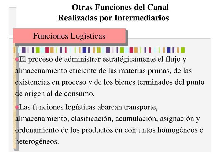 Otras Funciones del Canal